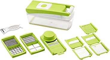 Ganesh Vegetable Dicer,12 Cutting Blades, Green