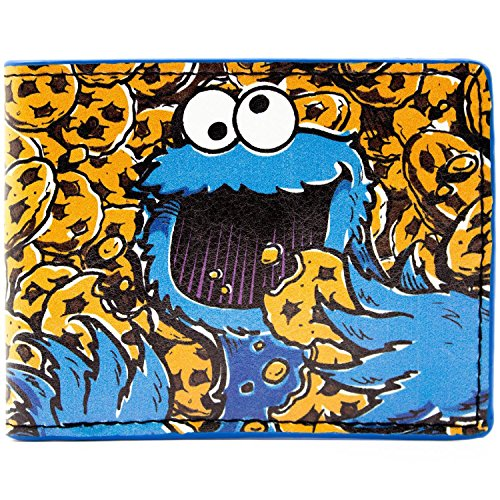Designs UK Sesame Street Cookie Monster Mehrfarbig Portemonnaie (Sesame Kostüme Street Uk)