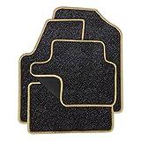 Eight Tec Handelsagentur VMELET_23456 Passgenaue Nadelfilz-Fußmatten Grau-meliert und Rand in Mittelbeige - Fahrzeugtyp in der Artikelbeschreibung beachten!
