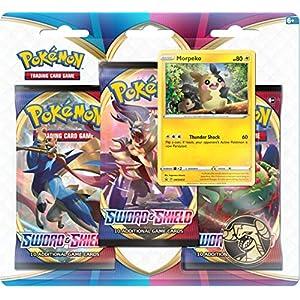 Pokemon POK80655-D12 TCG Schwert und Schild 3-Pack Booster (Einer zufällig ausgewählt)