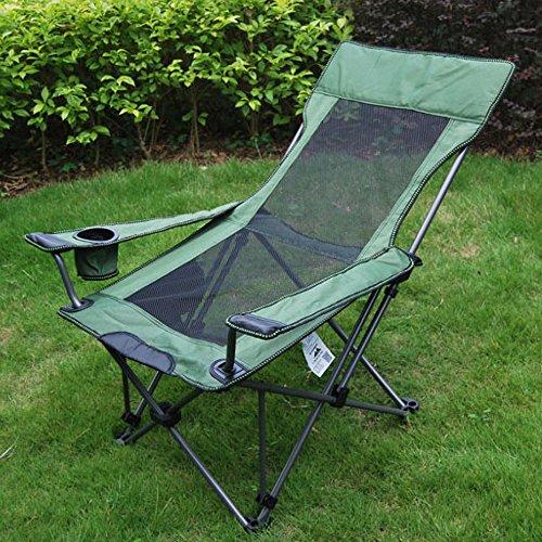 ZRKZ Liege Relaxer Recliner,Moon Chair Strandgarten Stuhl Niedrig Falten Leichtes Angeln Camping...