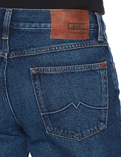 Mustang Herren Straight Jeans Tramper Blau (Denim Blue Super Dark 5000-980)