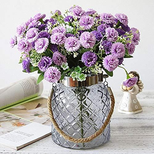Niya Soft Künstliche Lila Blumen Real Touch Gefälschte Seidenblumen Hochzeit Halten Flores Bouquet für Hausgarten Dekoration Kranz 20 Köpfe 4 stücke -