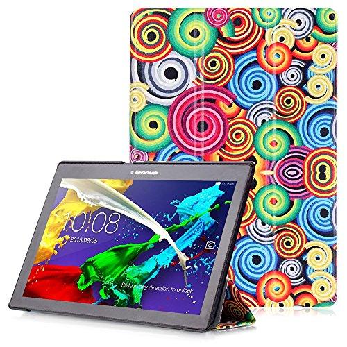 """Lenovo Tab 2 A10 / Tab3 10 Plus / Tab3 10 Business Hülle - Schutzhülle mit Auto Aufwachen / Schlaf Funktion für Lenovo Tab 2 A10-30 / A10-70 / Tab3 10 Plus / Tab3 10 Business 10.1"""" Tablet, Spirale"""