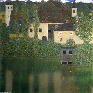 Poster/Impression sur toile - 28 x 28 inches / 71 x 71 CM - Gustav Klimt - Château d eau (2)