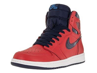 Nike Air Jordan 1 Retro High OG, Chaussures spécial basket ball pour homme rouge