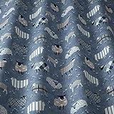 iLiv Baa Denim blau NEUHEIT bedruckt Schaf Stoff,100% Baumwolle für Vorhänge,faltgardinen,Kissen,Polster,bastelarbeiten. ideal für ein Jungen oder Mädchen Schlafzimmer,Kinderzimmer Land inspiriert