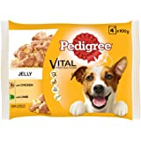 Pedigree Vital Protection Adult Wet Dog Food, Chicken & Lamb in Jelly, 4 Pouches (4 x 100g)