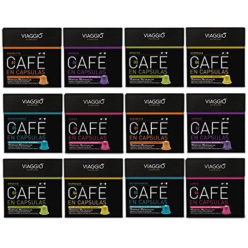 Viaggio Espresso, Cápsulas de café (Surtido, compatible con Nespresso) - 120 cápsulas
