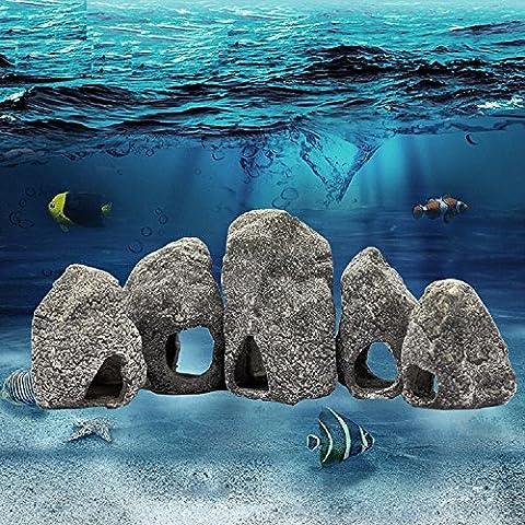 K&C Cichlid Steine Aquarium Verstecken Rock Cave Ornament Fisch Tank