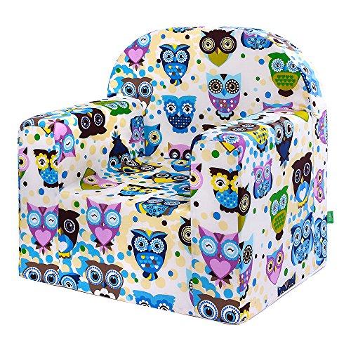 lulando m00008496Classic Baby, niños sofá Mini Sillón Niños Muebles para parte habitaciones y habitación de los Niños, Stars, multicolor