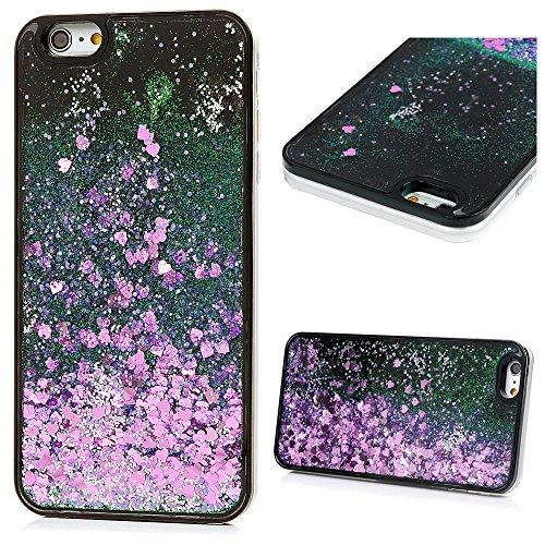 KASOS iPhone 6 Plus 6S Plus 5.5 Pouces Coque Bling Bling Gliter Sparkle Paillette Antichoc Housse Étui en PC Plastique & TPU Souple Silicone Poudre Brillante - Diapré Violet