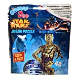 alltoshop® Star Wars Puzzle mit 48 Teilen - R2-D2 und C-3PO Puzzlespiel R2D