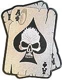 """b2see Biker Motorrad Aufnäher Patches Aufnäher groß für Jacken Jeans Kleidung Stoff Kleider Aufnäher Bügelbilder Sticker Bügel Patches Applikation Aufbügler zum aufbügeln """" Skull Ass 24 x 16,5 cm"""