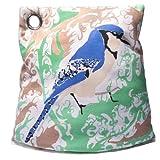 Teewärmer Teekannenhaube Teemütze Uccello Vogel blau grün beige