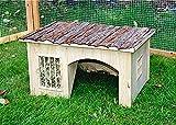 Kaninchenstall, Kerbl, einstöckig, Natura, mit Heuraufe, geeignet für Zwergkaninchen, 42 x 34,5 x 27 cm - 3