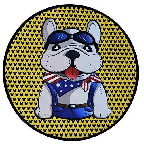 XOODEO Sommer Pet Runde Cartoon Schlaf Cool Teppich EIS Pet Matratze 58 cm unten Brillen