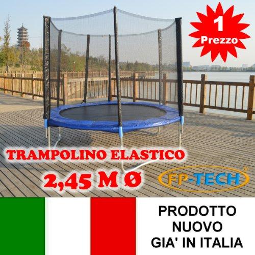FP-TECH- Trampolino Elastico, 245cm-8FT, FP-8FT
