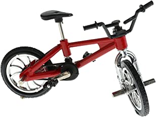 MagiDeal Alloy Finger Bike Model Miniature Finger Mountain Bicycle Boys Toy Collection Gift - red