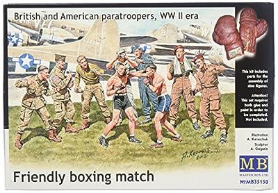 Masterbox MB35150 - 1/35 Freundliches Boxen Britische und Amerikanische Soldaten, Figurensatz von MasterBox