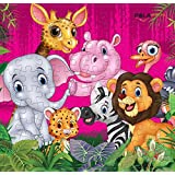 Pola Puzzles Jungle World Tiling Puzzles 100 Pieces For Kids Age 5 Years And Above Multi Color Size 36CM X 34CM Jigsaw Puzzles For Kids