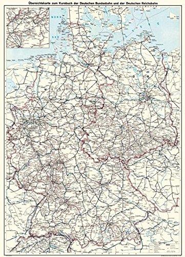 Deutsche Reichsbahn Übersichtskarte DR und DB 1970: Restaurierter Reprint der Originalkarte als Poster auf Kunstdruckpapier im Format 59 x 84 cm, ... (Sammler-Edition Historische Eisenbahnkarten)