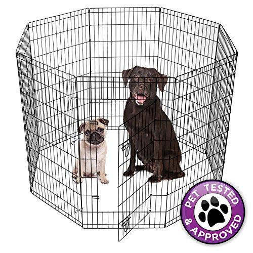 Artikelbild: Pet Puppy Dog Laufgitter, klappbar, Zaun 8Panel Metall Draht 106,7cm