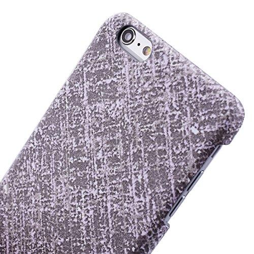 GrandEver iPhone 6/iPhone 6S(4.7 Zoll) Hartschale Hülle Bumper Hardcase Rückschale Schutzhülle Schwarz Hart Hüllen Dünne Ultra Slim Schutz Etui Rückseite Clear Case Protective Skin Cover Dünne Leicht  Grau