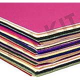 Edukit - Feltro acrilico, pacco maxi da 60 fogli A4, 15 colori assortiti