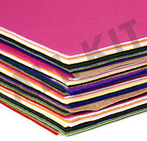 Edukit Acrylic Felt - Deluxe Box of 60 A4 Sheets - 15 Assorted Colours