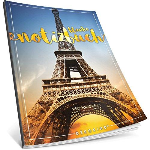 Dékokind® Blanko Notizbuch: Ca. A4-Format • 100 Seiten mit Inhaltsverzeichnis • Perfekt als Zeichenbuch, Skizzenbuch oder Tagebuch • ArtNr. 08 Paris • Softcover