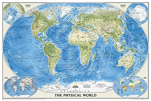 World Physical, enlarged Wall Maps World: Ocean Floor, Enlarged (Reference - World) par National Geographic Maps
