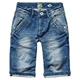 Vingino Boys Jeans Shorts Emiliano Joggdenim, Fb. Tinten snow (Gr. 10/140)