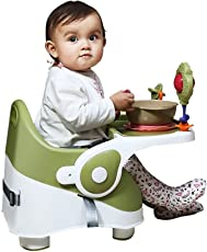 Goodluck Baybee Comfort Folding Baby Booster Seat Chair with 3 Point Safety Harness, 6 Months - 3 Years (Green)