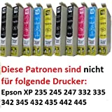 ESMOnline 10 komp. XL Druckerpatronen als Ersatz für Epson Expression Home XP Druckerserie (Patronen T1801 T1811 [Schwaz] T1802 T1812 [Blau] T1803 T1813 [Rot] T1804 T1814 [Gelb] T1806 T1816 [Multipack])