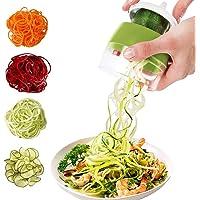 Spiralschneider 4 in 1 Gemüseschneider, Hand Spiralschneider Gemüse, Gemüsehobel für Gemüsespaghetti, Karotte, Gurke…
