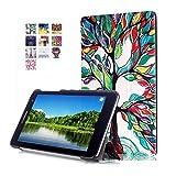 DETUOSI Huawei T1 7.0 Funda,Azul Oscuro Ultra Slim PU Cuero Carcasa Piel Flip Case Cover para Huawei MediaPad T1 7.0 Tablet(17,78cm) Funda de Cuero con Soporte Function