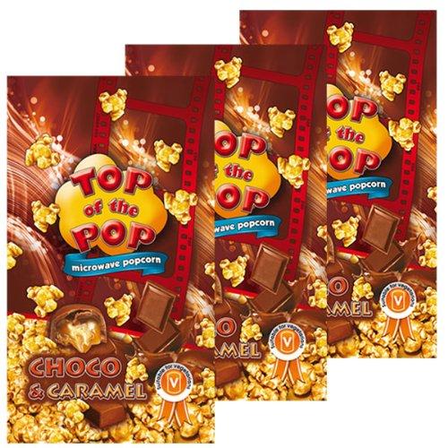 Halal Way Maïs à Éclater pour Micro-ondes Chocolat & Caramel, Microwave Popcorn Choco & Caramel, Lot de 3