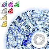 Nipach GmbH 10m 240 LED Lichterschlauch Lichtschlauch blau – Innen- und Außenbereich – energiesparende Leucht-Dekoration für Garten Fest Weihnachten Hochzeit Gesamtlänge ca. 11,50 m
