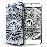 iPhone 6 hülle,iPhone 6s hülle,Lizimandu TPU 3D Handyhülle Muster Case Cover Für iphone6/6s(Weiße Auge/White Eye)