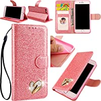 iPhone SE/5S/5 3D Love Hearts Bling Glitter Glitzer Diamond Musterg Ledertasche Slim Retro Bookstyle mit Standfunktion... preisvergleich bei billige-tabletten.eu