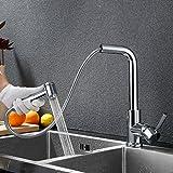Charmingwater 360° drehbar Wasserhahn mit ausziehbarem Brause Spültischarmatur Spülbecken Armatur Küche Mischbatterie Küchenarmatur