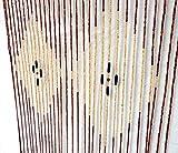 Porte Rideaux en perles Moustiquaire Store Séparateur Bois de bambou