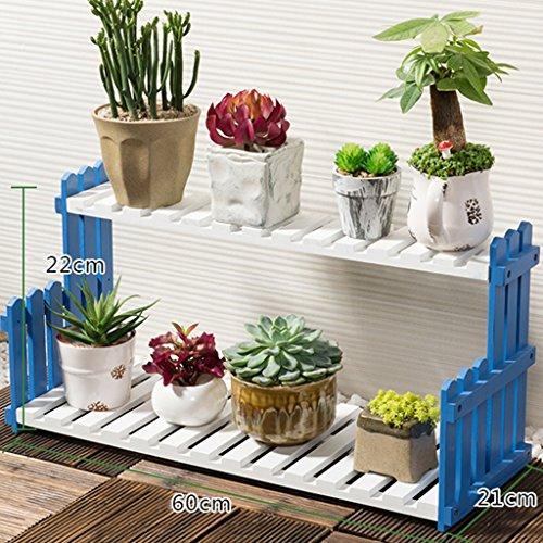 ZCJB Etagères de plantes Solide Bois Fleur Stand Salon Balcon Floorstanding Multi-couche Fleur Pot Rack Intérieur Simple Plantes Grasses ( taille : 60 cm )