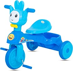 GoodLuck Baybee - Children Plug and Play Happy Baby Tricycle Kid's for 1-3 Years Baby Trike Ride on Outdoor | Suitable for Babies,Boys & Girls -(Blue)