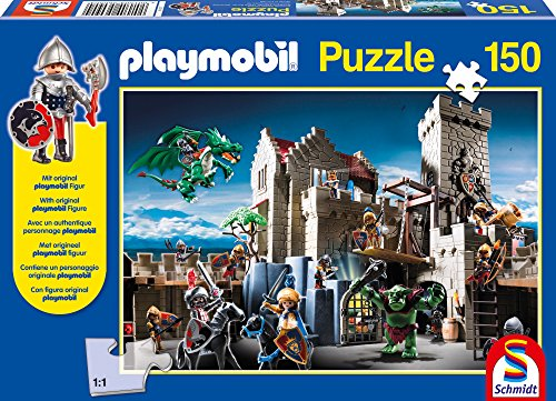 schmidt-playmobil-fight-for-the-royal-treasure-jigsaw-puzzle-150-piece
