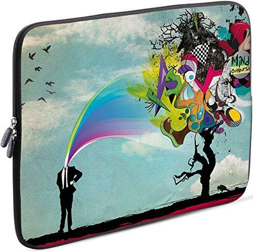 Sidorenko Laptop Tasche für 15 - 15,6 Zoll | Universal Notebooktasche Schutzhülle | Laptoptasche aus Neopren, PC Computer Hülle Sleeve Case Etui, Hellblau (Laptop 15 Case Alienware)