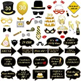 52 pz 30 anni compleanno Photo Booth props, konsait DIY Photo Booth accessori partito Maschere Foto props con stick, 30 decorazioni di compleanno forniture, facile assemblaggio