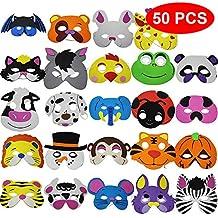 The Twiddlers 50 Máscaras de Espuma para Niños - 25 Diseños Variados - Relleno Bolsas Sorpresa