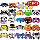 The Twiddlers 50 Máscaras de Espuma para Niños - 25 Diseños Variados - Relleno Bolsas Sorpresa - Regalos - Premios de Fiesta